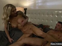 Busty Blonde MILF Synthia Fixx Fucked Deeply by Toni Ribas While Her Husband's Sleeping