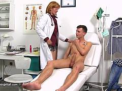 Nurse Stefania knows how to control patients mom tube