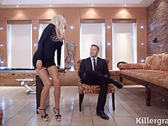 Tia - Executive Affair with blond MILF in high heels